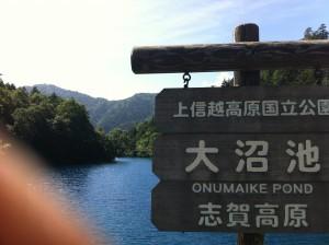 志賀高原(大沼池付近)
